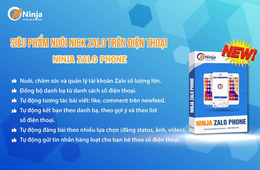 ninja phone nuôi nick tự động chuyên nghiệp